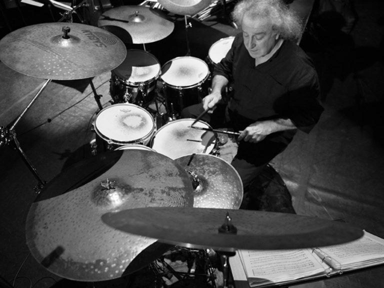 Bertrand Renaudin, batteur de jazz en concert